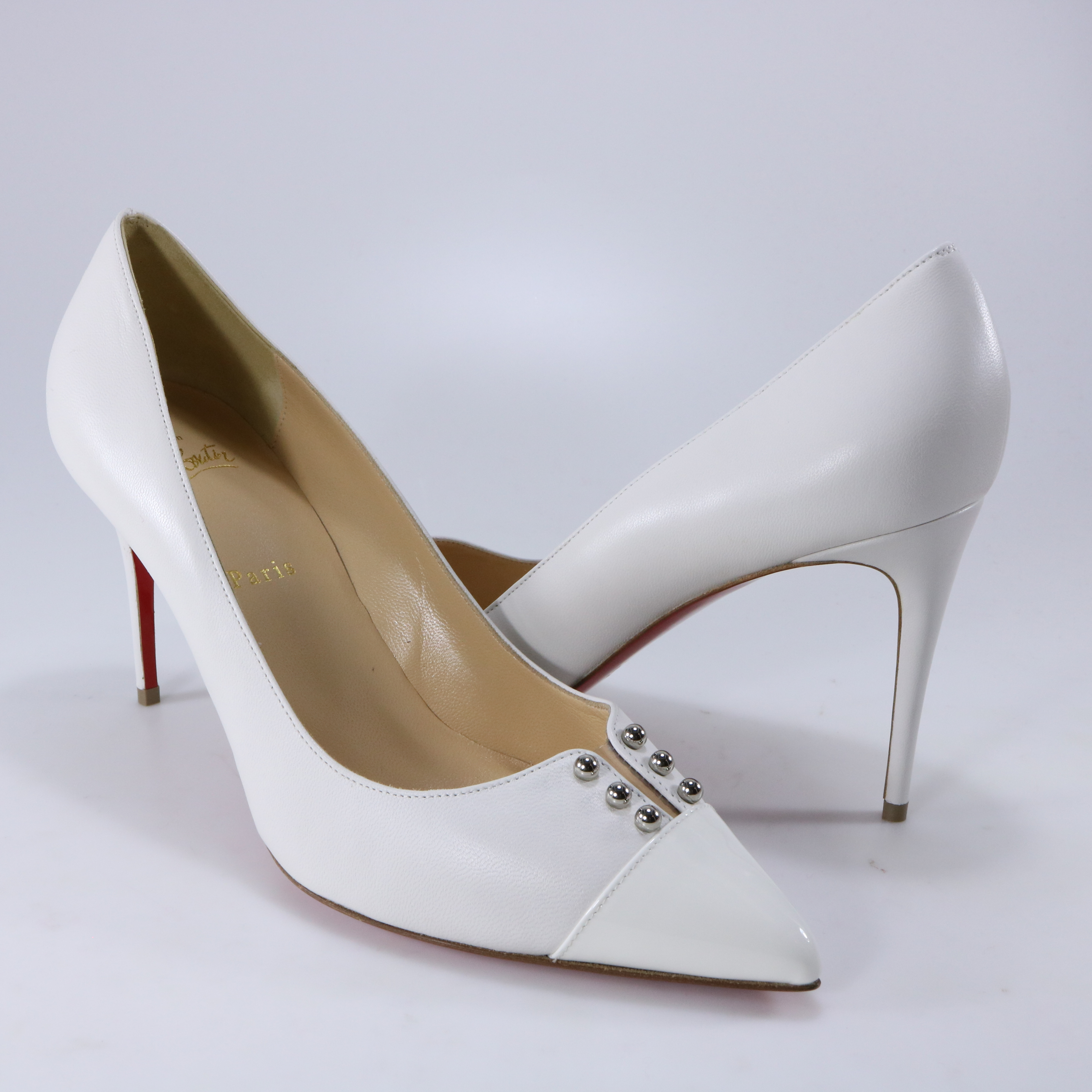 new products 67a5c 8b234 Christian Louboutin 41 Predupump 85mm White Nappa Leather ...